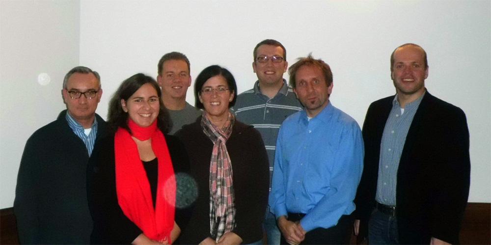 Der frisch gewählte Vorstand der AfA (v.l.n.r): Udo Bartsch, Diana Geldermann, Denis Arndt, Jenny Gnade, Ruben Gnade, André Thalmann, Klaus Krützen