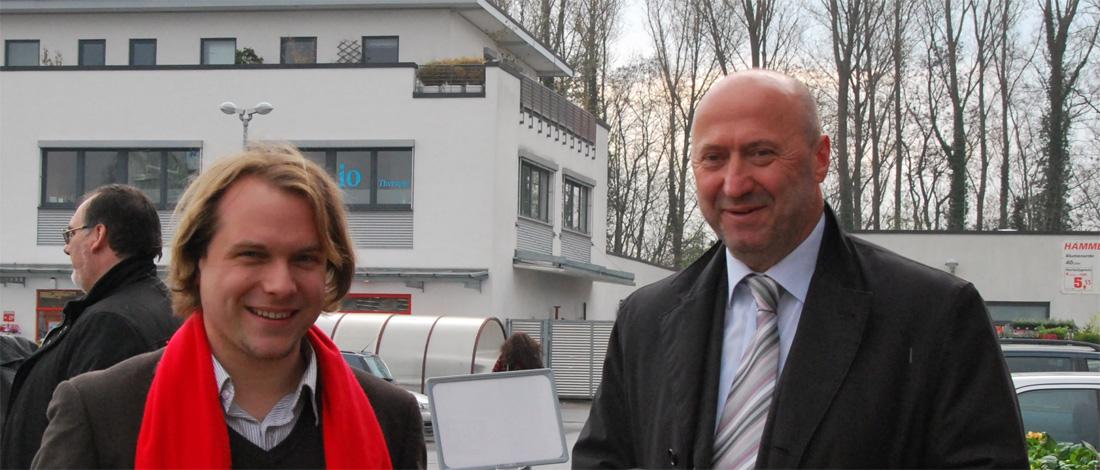 Martin Mertens und Rainer Thiel, Vorsitzender der SPD-Kreistagsfraktion