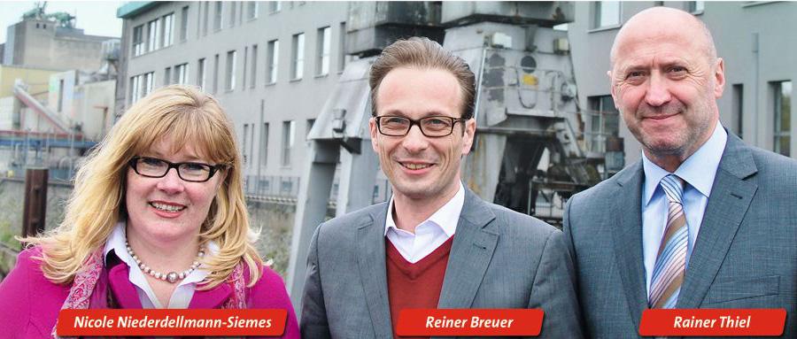Die drei Landtagskandidaten der SPD Rhein-Kreis Neuss