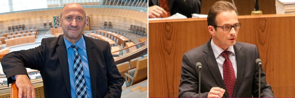 Rainer Thiel MdL (l.) und Reiner Breuer MdL (r.)