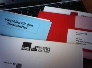 Abstimmungsunterlagen zum SPD-Mitgliedervotum