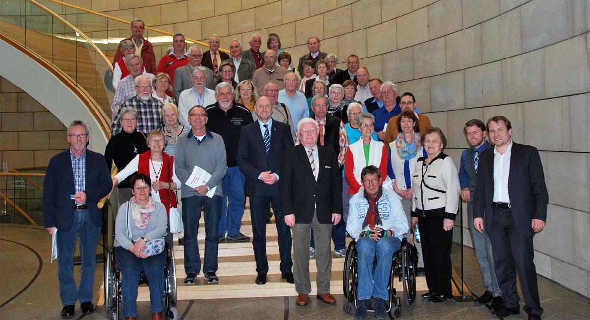 Sozialverband VdK Ortsverband Dormagen zusammen mit Rainer Thiel MdL