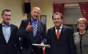 Ralf Steinbach, Rainer Thiel, Martin Mertens und Ellen Klingbeil (v.l.n.r.)