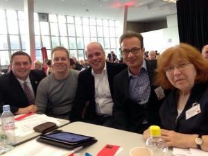 Erik Lierenfeld, Denis Arndt, Klaus Krützen, Reiner Breuer MdL und Gertrud Servos (v.l.n.r.)