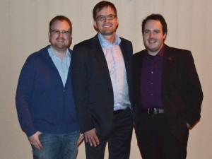 Martin Marquardt (links), Jürgen Thomas (Mitte) und René Kühlwetter (rechts)