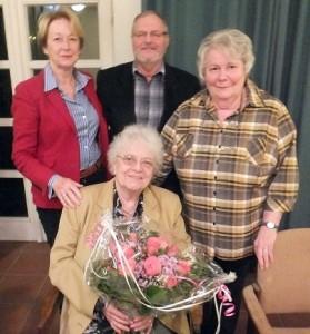 (v.l.n.r.) Marie-Jeanne Zander, Norbert Paas, Marianne Kuntschik, Helga Weiss (sitzend)