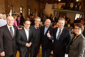 (v.l.n.r.) Klaus Krützen, Reiner Breuer, Hans Christian Markert, Rainer Thiel, Albert Richter und Ruth Esser-Rehbein