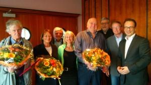 (v.l.n.r.) Markus Kühl, Hannelore Becker, Peter Ott, Gisela Hohlmann, Ulrich Seidel, Harald Holler, Frank Derichs, Reiner Breuer - Foto: Tören Welsch