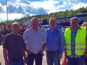 Rainer Thiel und Klaus Krützen vor Ort bei den Kolleginnen und Kollegen im Tagebau Garzweiler