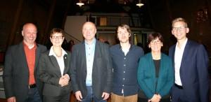 Ibrahim Yetim, Heike Steinhäuser, Rainer Thiel, Niklas-Max Thönneßen, Constanze Studeny & Daniel Rinkert (v.l.n.r.)