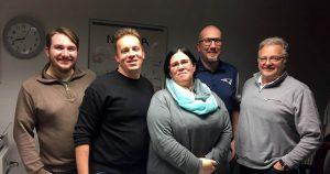 Der neue AfA-Vorstand (v.l.n.r.): Justin Kluth, Denis Arndt, Jenny Gnade, Ruben Gnade und Frank Neye